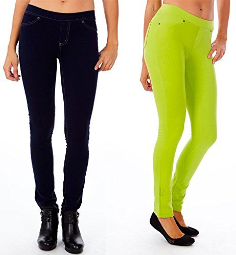 2 Pack Juniors's Skinny Fit French Terry Pull-On Jeggings Pants