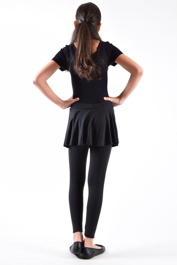 Girls Black Skirted Leggings