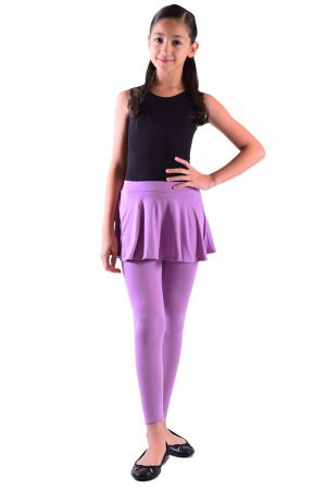 Girls Dusty Purple Skirt Leggings