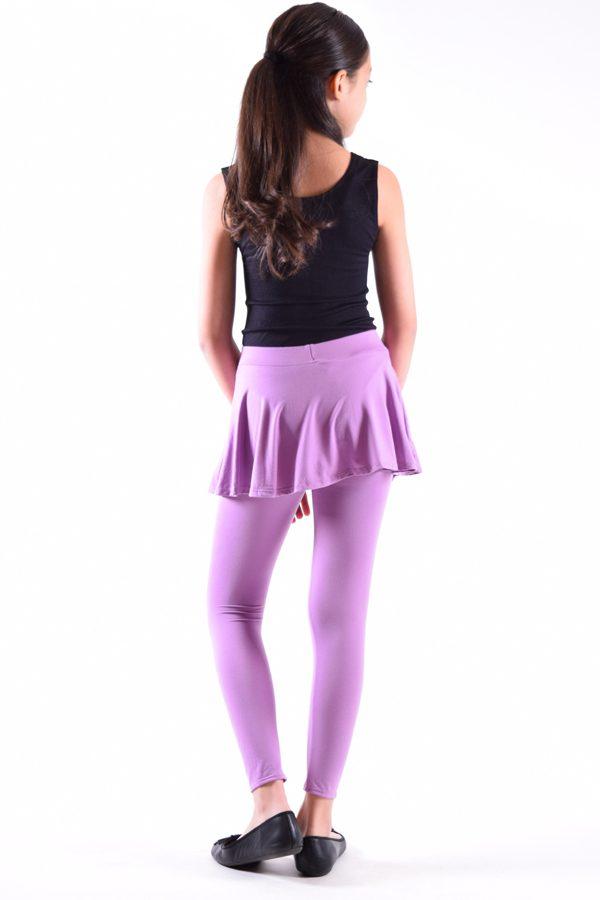 Girls Dusty Purple Skirt Leggings
