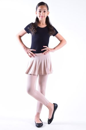 Girls Pink Skirt Leggings