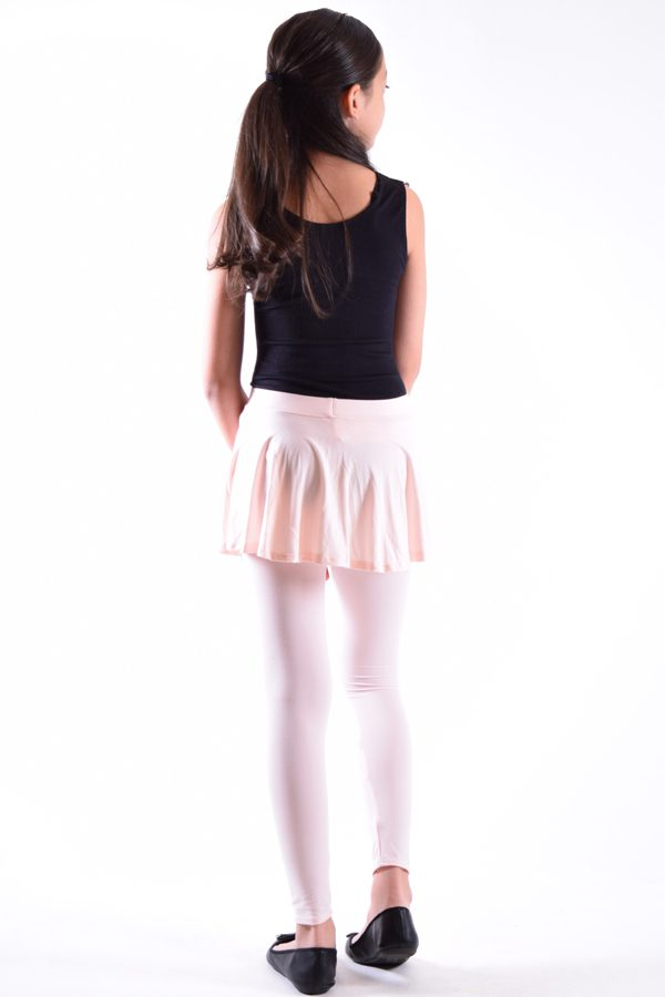 Girls Pink Skirt Leggings