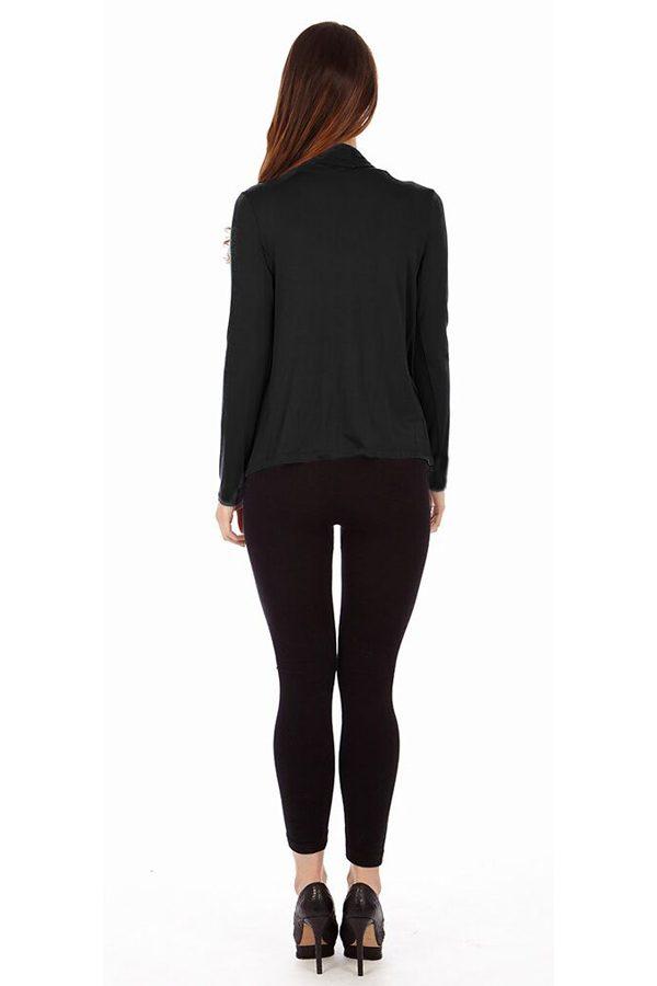 Black Infinity Crisscross Cardigan Sweater