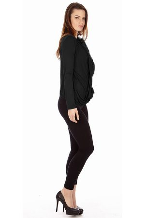 Black Infinity Crisscross Cardigan Sweater