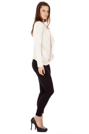 Cream infinity Crisscross Cardigan Sweater