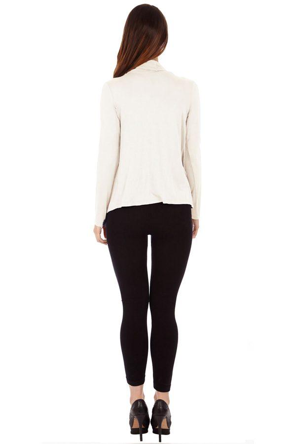 Cream infinity Crisscross Cardigan Sweater