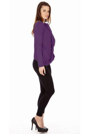 Grape Infinity Crisscross cardigan sweater