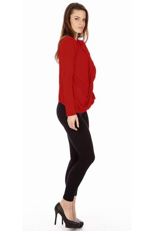 Red Infinity Crisscross Cardigan Sweater