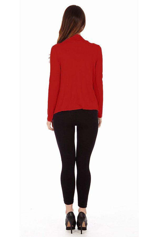 Red Infinity Crisscross Cardigan Sweater