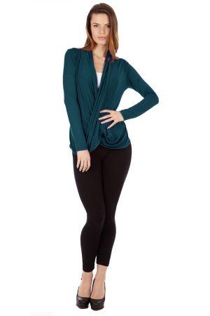 Jade Infinity Crisscross Cardigan Sweater