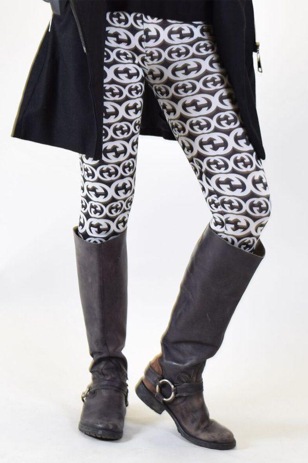 Black and White Batwing Leggings