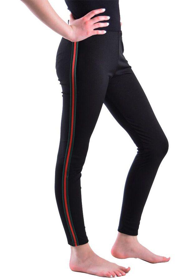 Black Green Red leggings