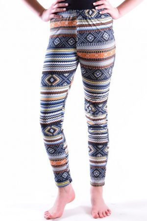 Colorful Tribal Print Girls Leggings