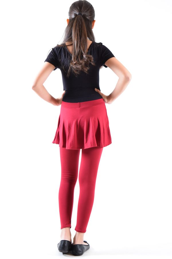 Girls Wine Skirt Leggings