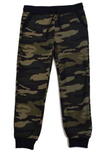 Kids Green and Black Army Joggers
