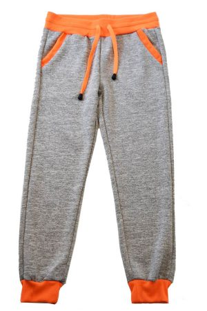 Light Gray Neon Orange Heather Joggers