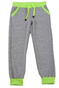 Light Grey Neon Green Heather Joggers