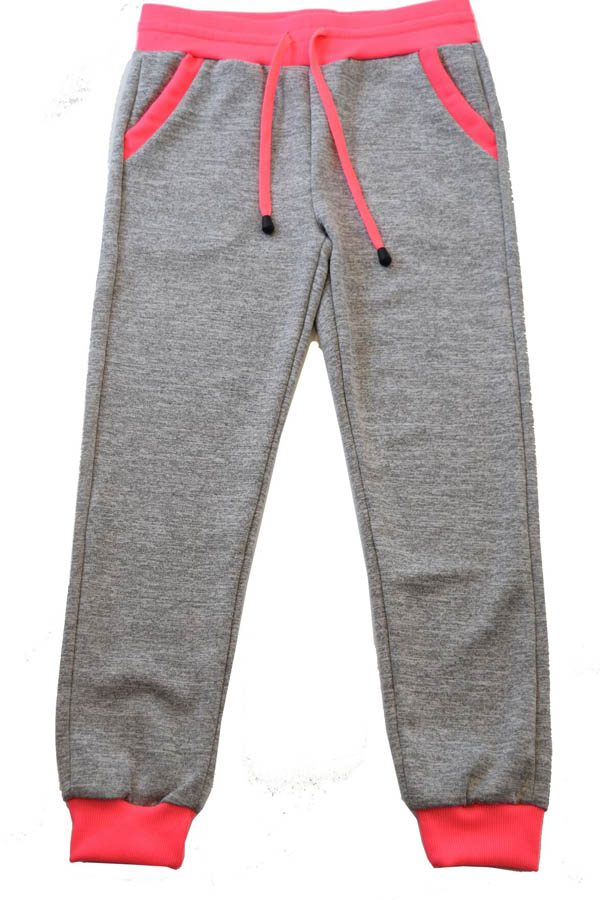 Light Grey Neon Pink Heather Joggers
