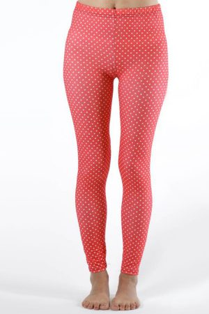 Pink Polka Dot Ankle Leggings
