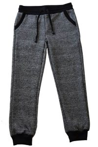 Kids Dark Gray and Black Heather Joggers