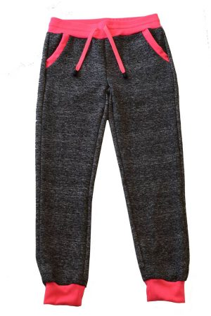 Girls joggers neon pink & Black