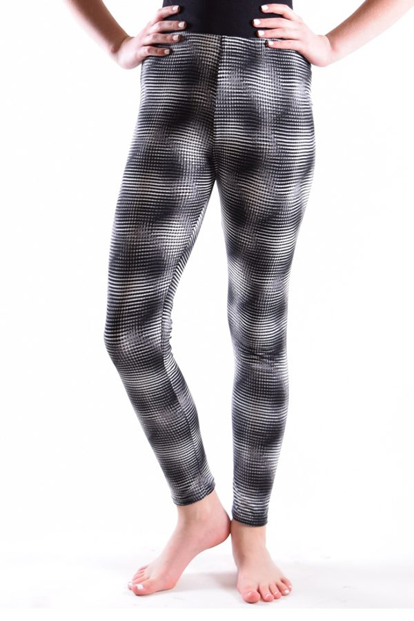 Girls Black & White Geometric Design Leggings