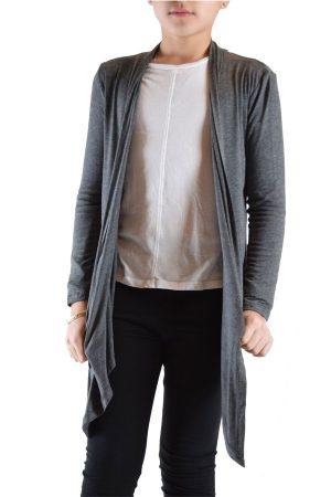 Girls Dark Grey Cardigan Sweater