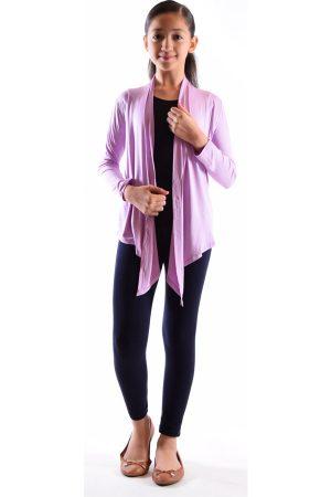 Girls Dusty Purple Flyaway Cardigan