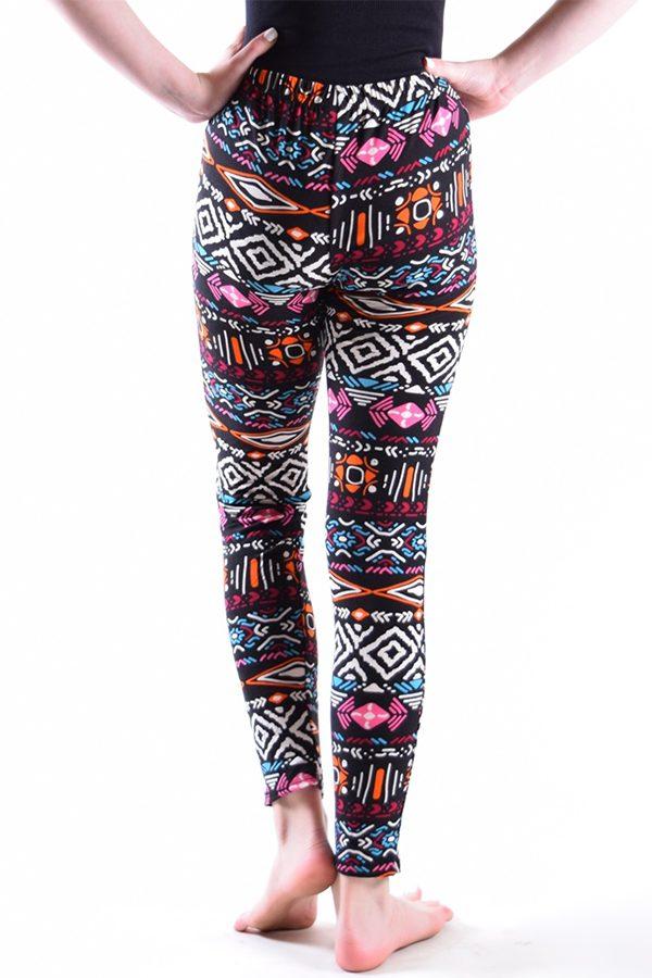 Girls Multi Color Tribal Print Leggings 1