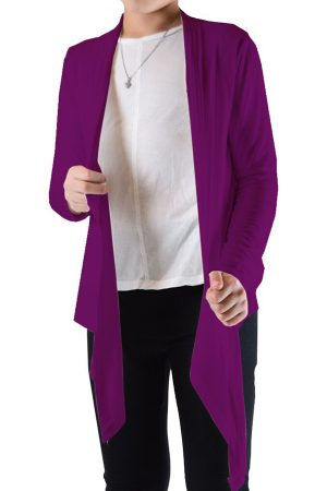 Girls Purple Flyaway Cardigan