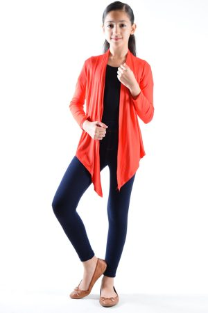 Girls Red Cardigan Sweaters