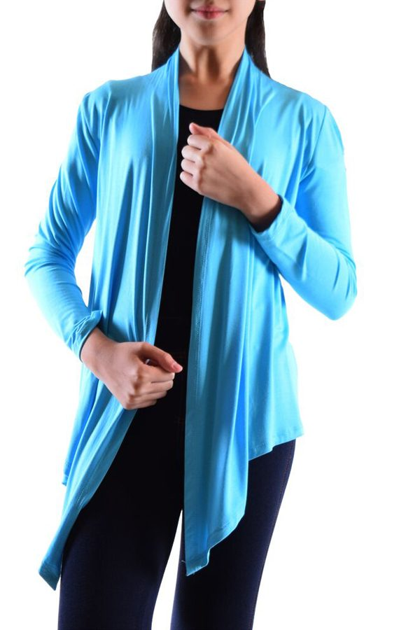 Girls Turquoise Flyaway Cardigan