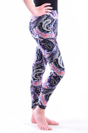 Girls Fun Paisley Print Leggings