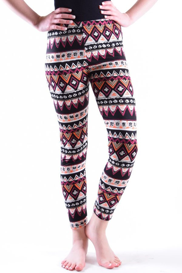 Girls Diamond Tribal Print Leggings