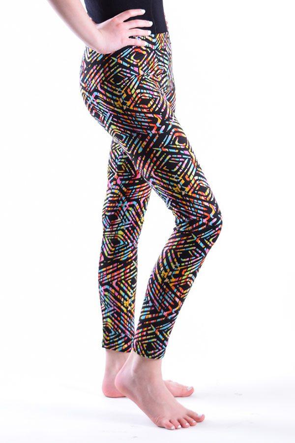 Girls Rainbow Maze Print Leggings