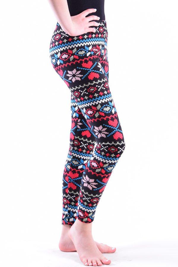 Girls Tribal Bold Heart Print Leggings