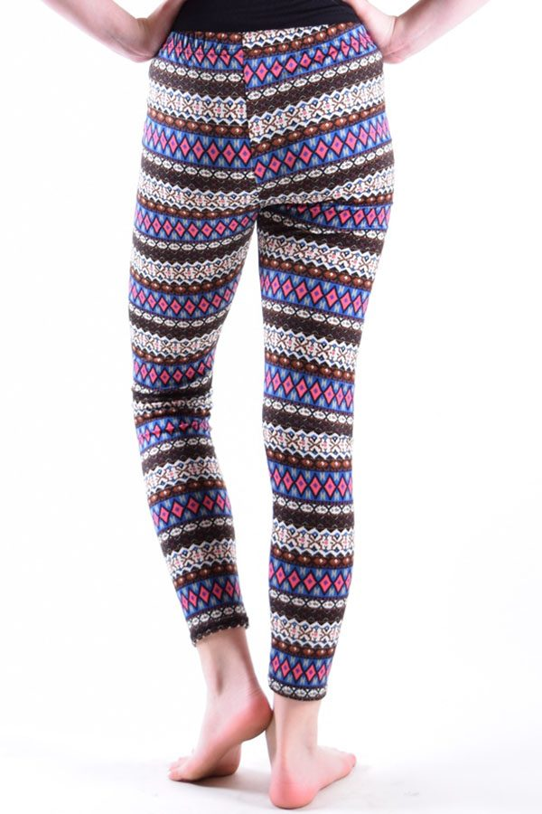 Girls Purple Diamond Tribal Print Leggings