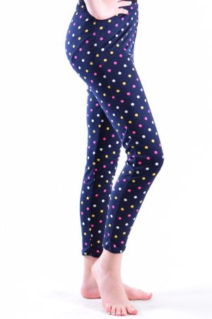 Polka Dot Print Navy Leggings